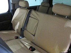 Covercraft Custom-Fit Front Bench SeatSaver Seat Covers Taupe SS3341PCTP Polycotton Fabric