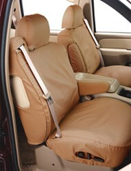 Polycotton Fabric Covercraft Custom-Fit Front Bench SeatSaver Seat Covers Tan SS3355PCTN