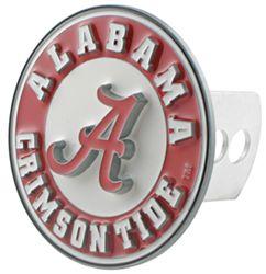 Alabama AMG Auto Emblems NCAA Solid Metal Custom Shaped Hitch Cover