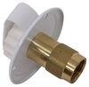 valterra rv water inlets city fill inlet brass lead free flush mount - 2-3/4 inch metal flange fpt white