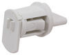 Valterra City Water Inlet and Lockable Hatch for RVs - Brass - White - Gravity Fill 1/2 In MPT x 1-1/4 In Barb A01-2000VP