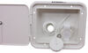 Valterra City Water Inlet and Lockable Hatch for RVs - Brass - White - Gravity Fill Inlet A01-2000VP