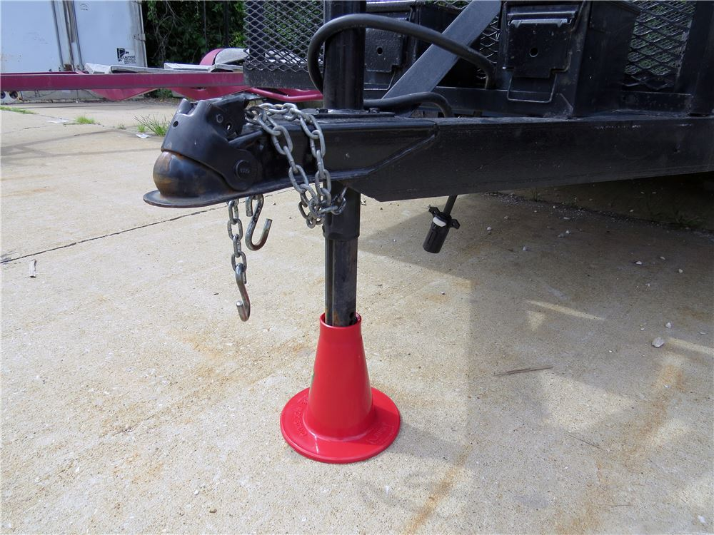 Capacity 1,500 lb 3//4 Ton Torin Big Red Steel Under Hoist Jack Stand