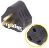 Mighty Cord RV Power Cord Adapter Plug - 30 Amp Female to 15 Amp Male - Triangle 30 Amp to 15 Amp A10-1530AVP