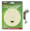 valterra rv access doors cable hatch round electrical for rvs - 4-5/16 inch diameter colonial white