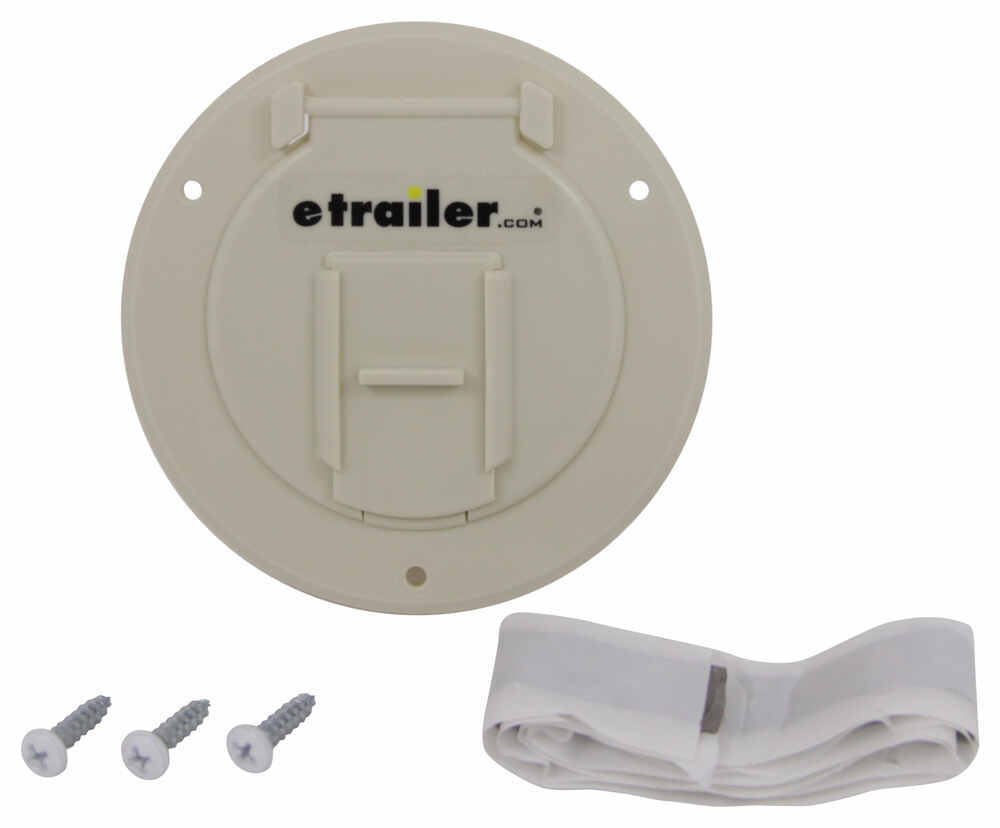 "Valterra Electrical Cable Hatch for RVs - 4-5/16"" Diameter - Colonial White White A10-2141VP"