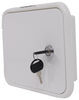 valterra rv exterior cable hatches locking electrical hatch for rvs - 7-5/8 inch long x 6-1/2 tall white