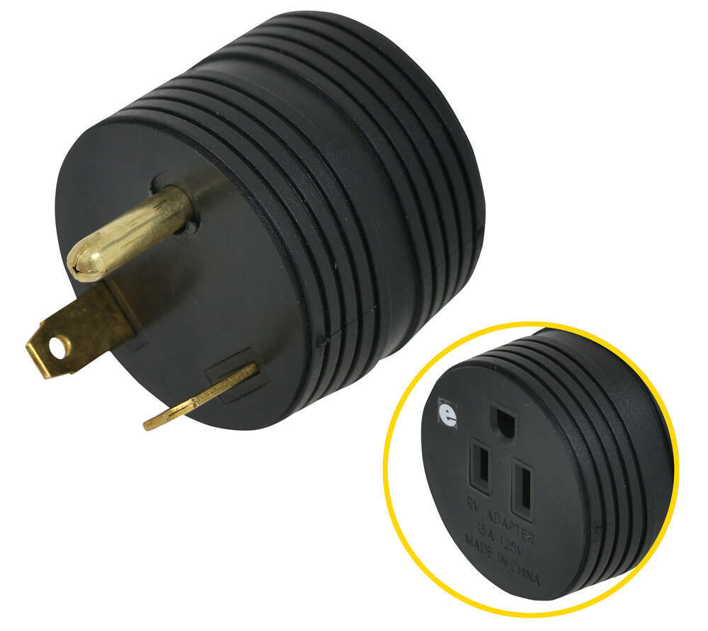 RV Plug Adapters A10-3015ARDVP - 15 Amp Female Plug - Mighty Cord