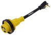 A10-3030DBK - 30 Amp Male Plug Mighty Cord Adapter Cord