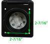 A10-30INBKVP - 30 Amp Twist Lock Male Plug Mighty Cord Power Inlets