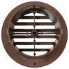 valterra rv vents and fans a/c heat registers heating register grille for ceiling vent - round 4 inch walnut