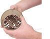 Valterra Heating and A/C Vent Register - Round - Beige 4 Inch Diameter A10-3351VP
