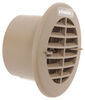 valterra rv vents and fans a/c heat registers vent ceiling register - 5-1/4 inch diameter beige
