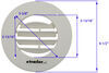 Valterra Ceiling Register RV Vents and Fans - A10-3357VP