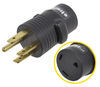 Mighty Cord RV Power Cord Adapter Plug - 30 Amp Female to 50 Amp Male - Round 30 Amp to 50 Amp A10-5030AVP