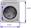 RV Power Inlets A10-50INVP - 50 Amp Twist Lock Male Plug - Mighty Cord