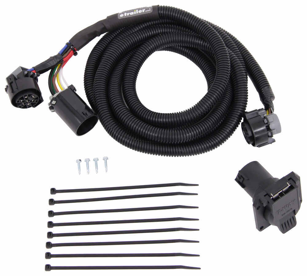Mighty Cord 5th Wheel/Gooseneck Wiring Harness w/ 7-Way Connector - 10' Long Universal Fit A10-7010