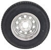 "Provider ST205/75R14 Radial Tire w/ 14"" Steel Mod Wheel - 5 on 4-1/2 - LR C - Silver PVD Finish Steel Wheels - PVD,Boat Trailer Wheels A14R45SMPV"