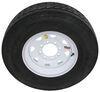 "Provider ST235/80R16 Radial Trailer Tire w/ 16"" White Spoke Wheel - 8 on 6-1/2 - Load Range G Load Range G A16R80GWS"