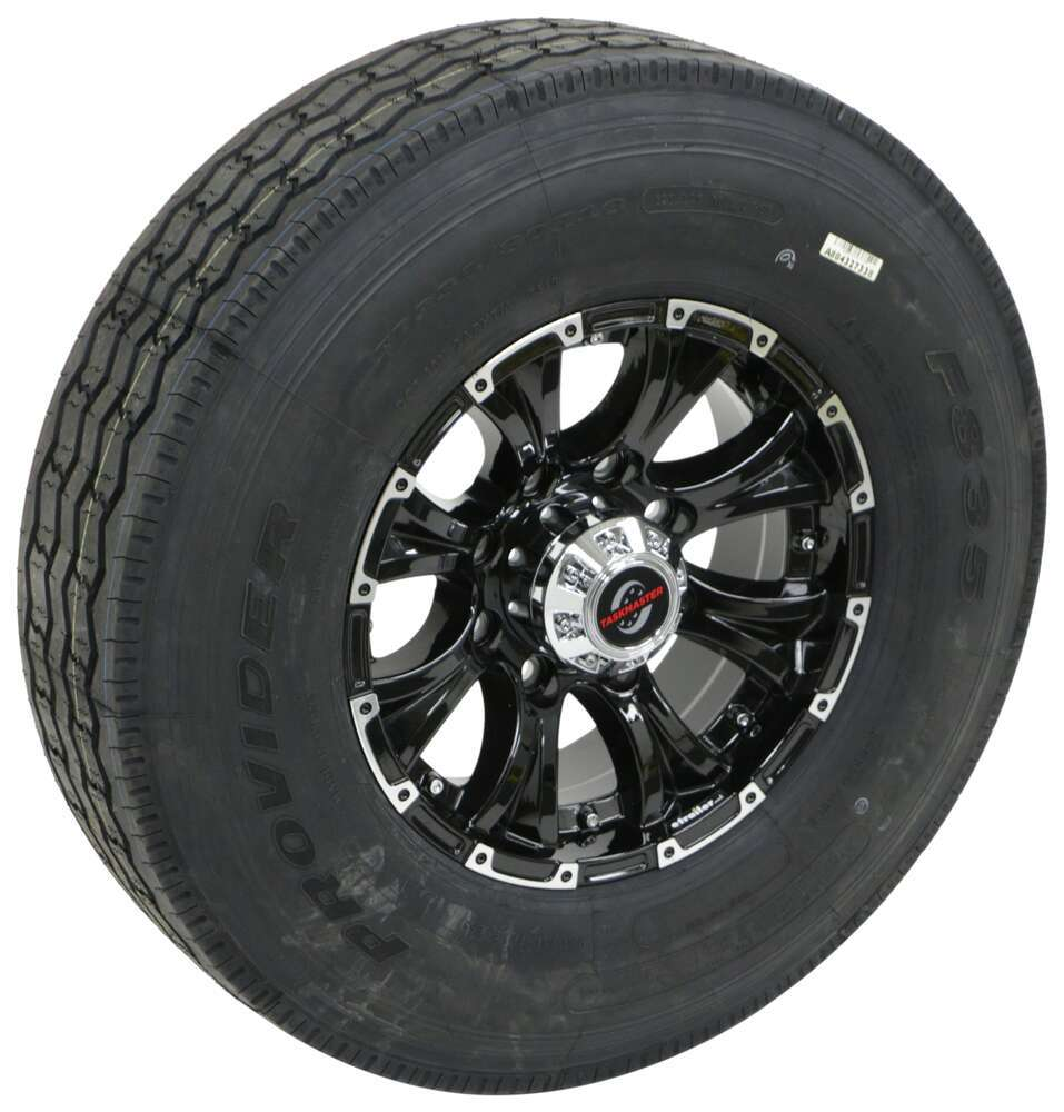 Trailer Tires and Wheels A16RG8BML80 - 8 on 6-1/2 Inch - Taskmaster