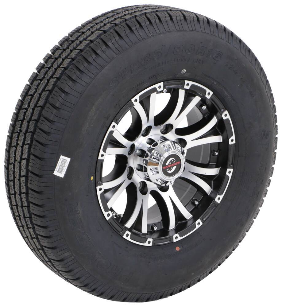 Trailer Tires and Wheels A16RTK8BMMFLHD - 16 Inch - Taskmaster