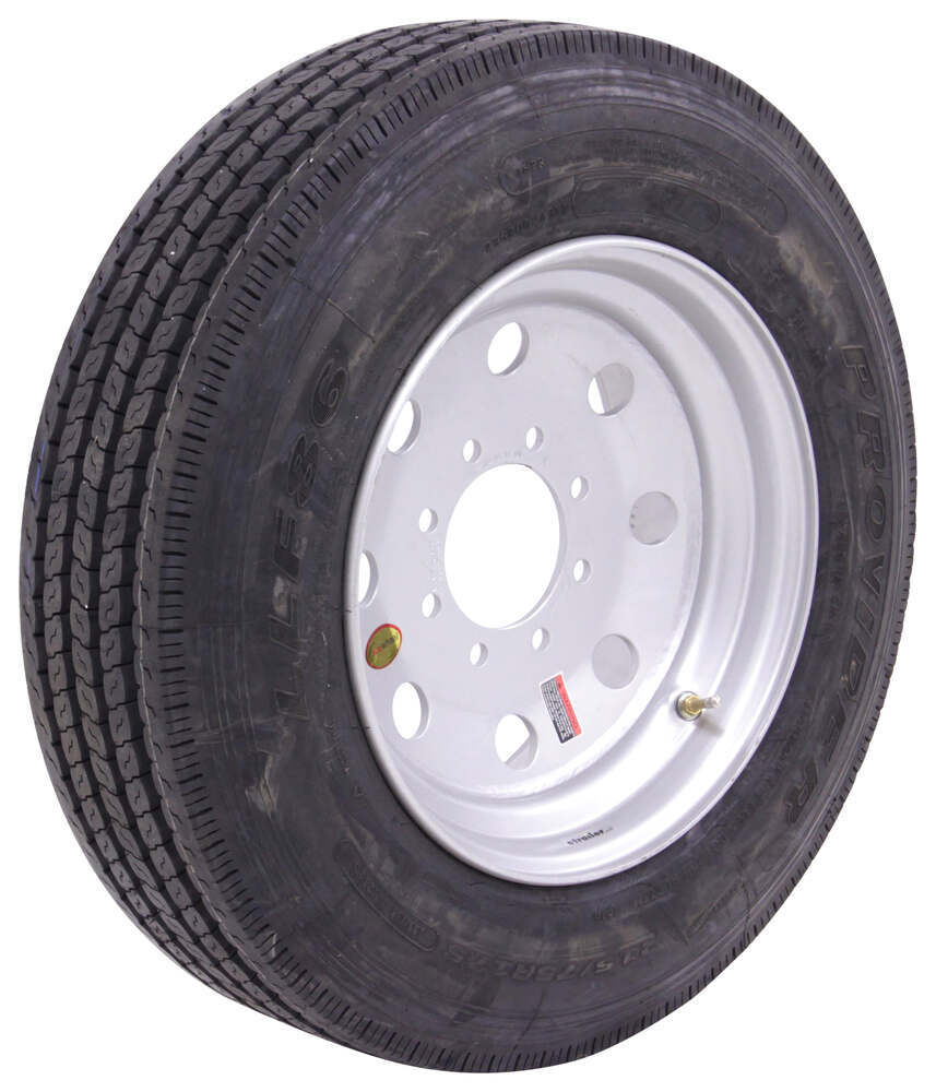 """Provider 215/75R17.5 Radial Tire w/ 17-1/2"""" Silver Mod Wheel - Offset - 8 on 6-1/2 - LR H 17-1/2 Inch A215H-8H08"""