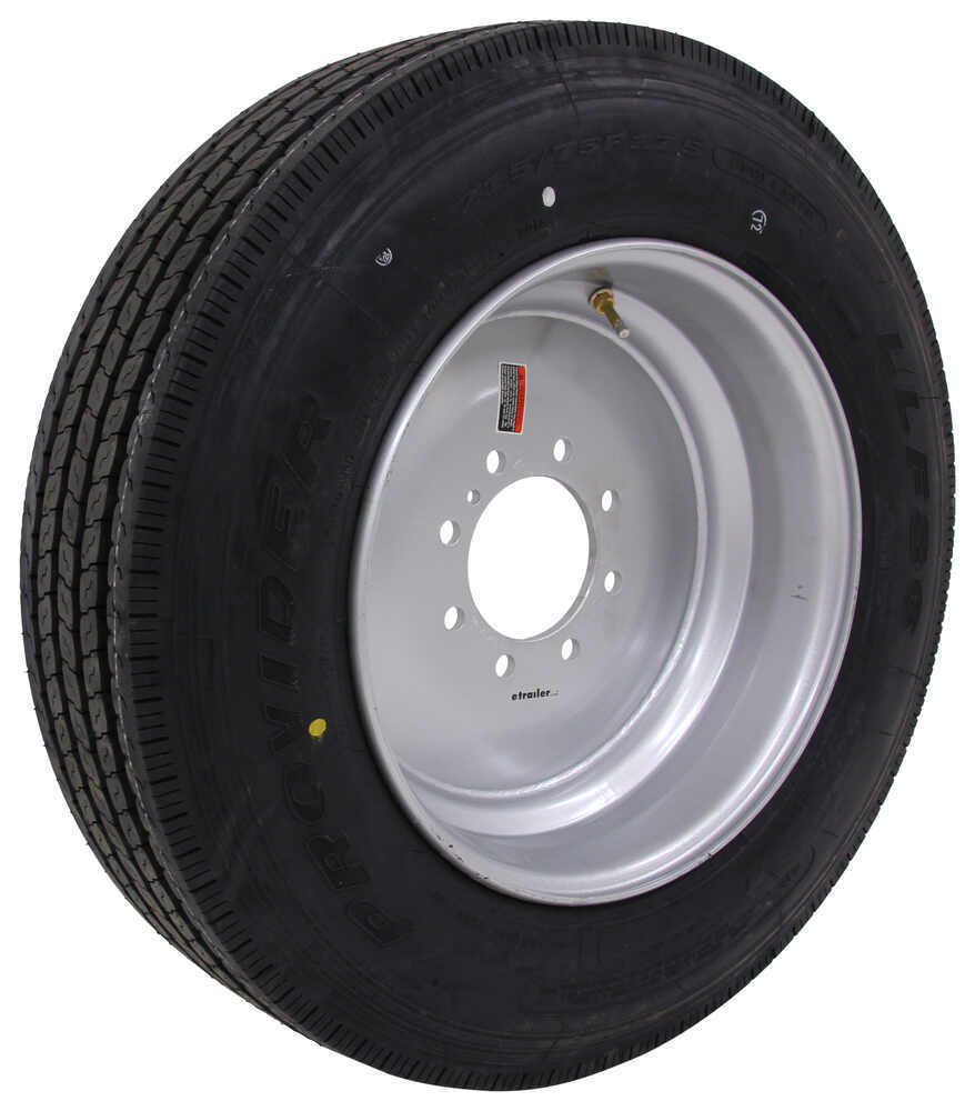 "Provider 215/75R17.5 Radial Tire w/ 17-1/2"" Solid Center Wheel - Offset - 8 on 6-1/2 - LR H 8 on 6-1/2 Inch A215H-8H31"