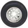"""Provider ST225/75R15 Radial Tire w/ 15"""" Steel Mod Wheel - 6 on 5-1/2 - LR D - Silver PVD Finish 225/75-15 A225R6SMPVD"""