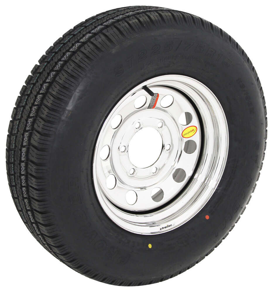 Taskmaster Trailer Tires and Wheels - A225R6SMPVD