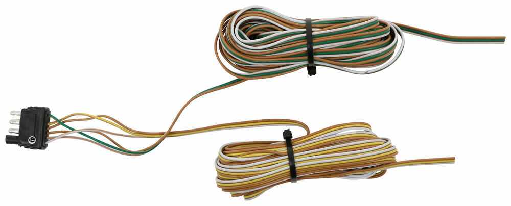 25 Ft 4-Way Trailer Wiring Harness - Wishbone Style - 25' Ground Trailer End Connector A25W2GWB