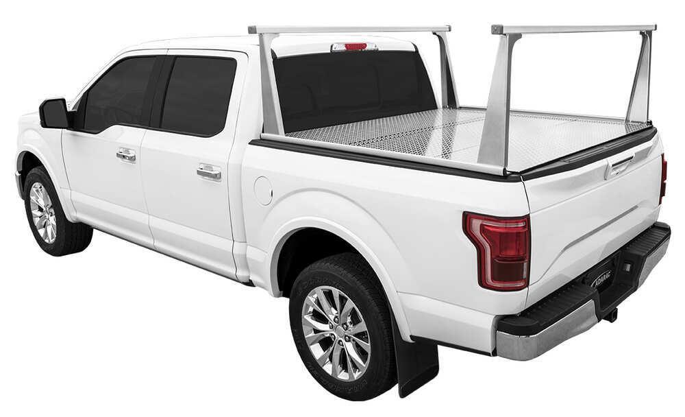 Adarac Pro Series Custom Truck Bed Ladder Rack - Aluminum - 500 lbs Fixed Rack A4000946