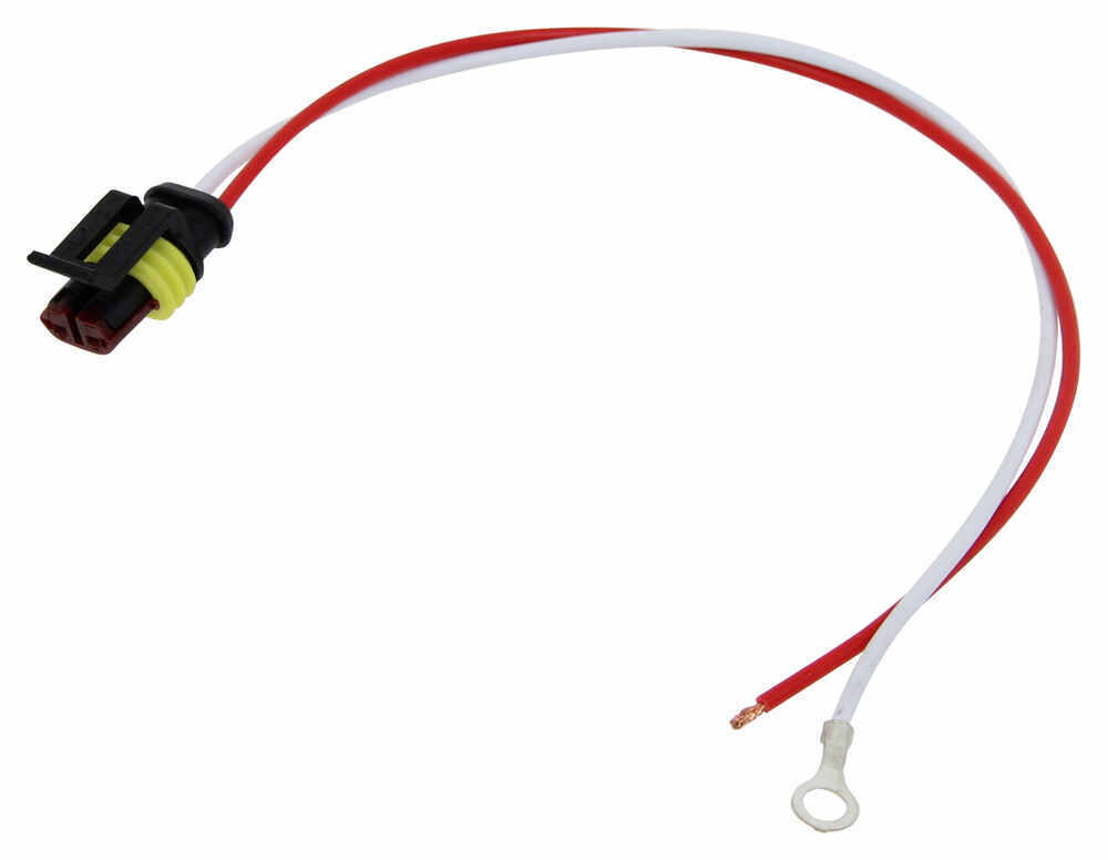 """2-Wire Pigtail for Optronics Trailer Lights - Weathertight Plug - 10"""" Lead Wiring A42PMB"""