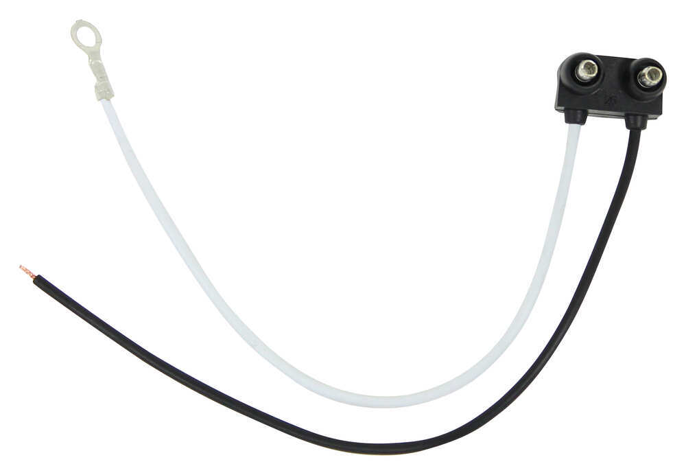 "Right Angle 2-Wire Pigtail for Optronics Trailer Lights - 2-Prong PL-10 Plug - 6"" Lead Two Wire Pigtail A46PB"