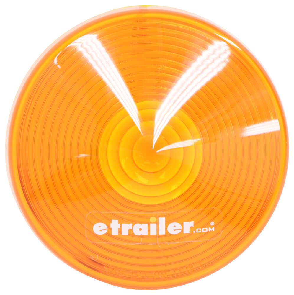 Replacement Lens for Round Trailer Clearance and Side Marker Light - Amber Amber A52AB