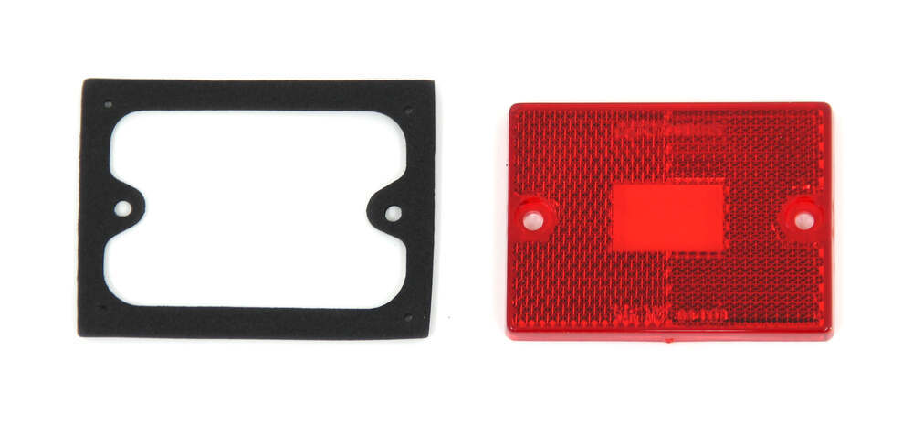 Replacement Side Marker Lens with Gasket for Optronics Combination Trailer Tail Lights - Qty 1 Red A9R