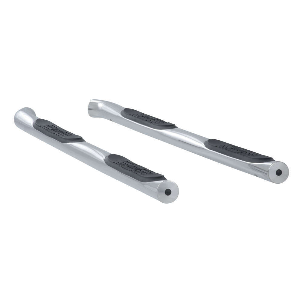 "Aries Round Nerf Bars - 3"" Diameter - Polished Stainless Steel Fixed Step AA207005-2"