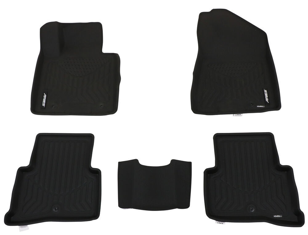 Aries StyleGuard XD Custom Auto Floor Liners w/ OmniGrip - Thermoplastic - Front and Rear - Black Contoured AA2808009