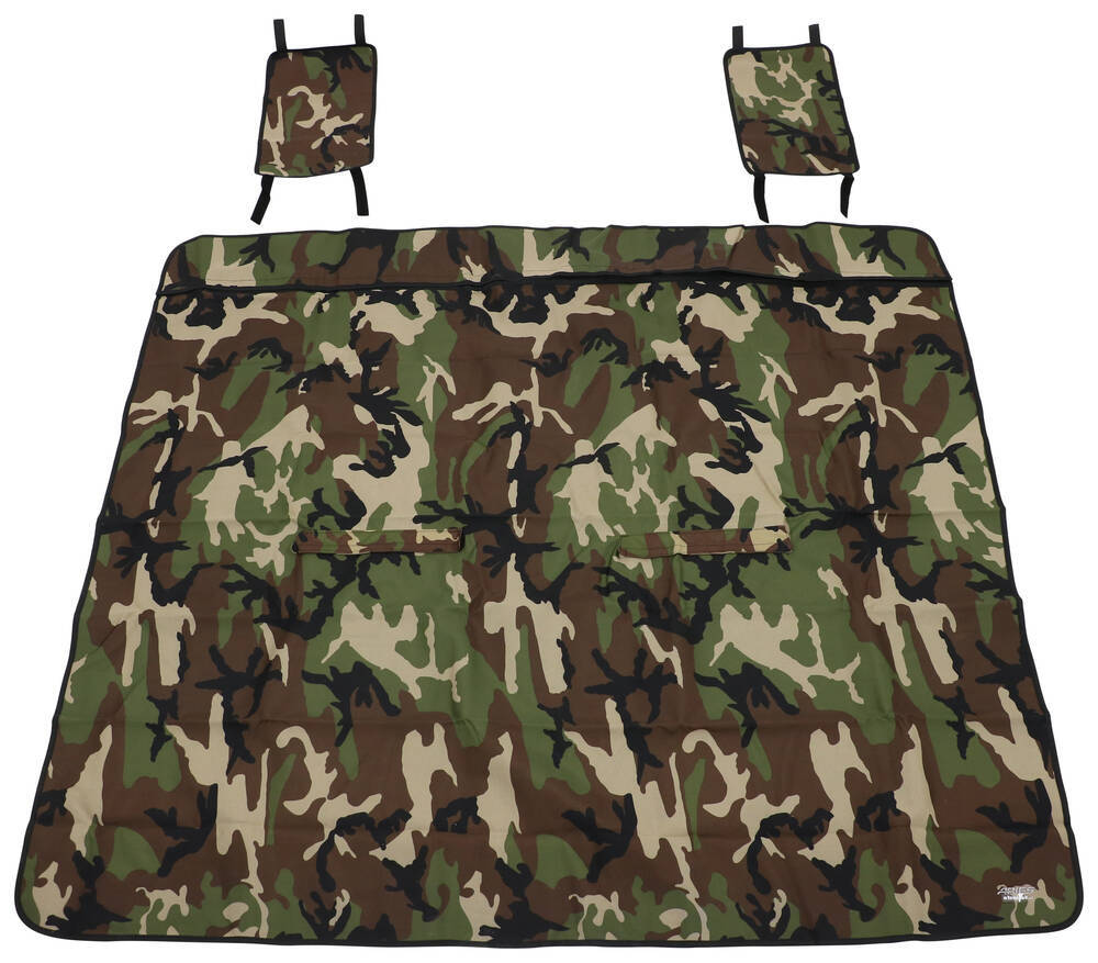 """Aries Automotive Seat Defender Bench Seat Protector - 66"""" Wide x 55-1/2"""" Tall - Camo Cloth AA3147C"""