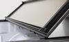 Lomax Hard Tonneau Cover - Folding - Aluminum - Matte Black Opens at Tailgate AB1010019