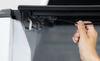 Lomax Hard Tonneau Cover - Folding - Aluminum - Matte Black Top of Bed Rails - Open Stake Pockets A45FR