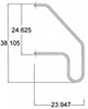 """Stromberg Carlson Folding Handrail for RVs - Stainless Steel - 38"""" Tall - 200 lbs Folding Handle AC-530"""