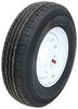 "Contender ST235/80R16 Radial Trailer Tire w/ 16"" White Mod Wheel - 8 on 6-1/2 - Load Range E 16 Inch AC16R8WMQ"