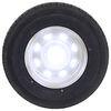 "Contender ST225/75R15 Radial Trailer Tire w/ 15"" White Spoke Wheel - 6 on 5-1/2 - Load Range D Standard Rust Resistance AC225R6WS"