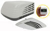 advent air rv conditioners system w thermostat conditioner w/ distribution box and wall - 13 500 btu white