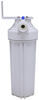 aquafresh rv water filter systems 500 gallons exterior system w/ wall bracket - single cartridge carbon block 5 micron