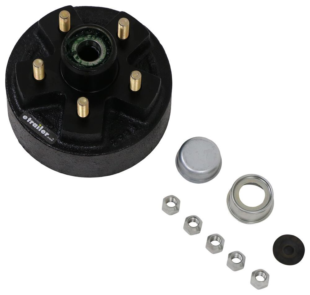 """Trailer Hub and Drum Assembly - 2K E-Z Lube Axles - 7"""" - 5 on 4-1/2 - L44643 - Pre-Greased For 2000 lbs Axles AKHD-545-2-EZ-1K"""
