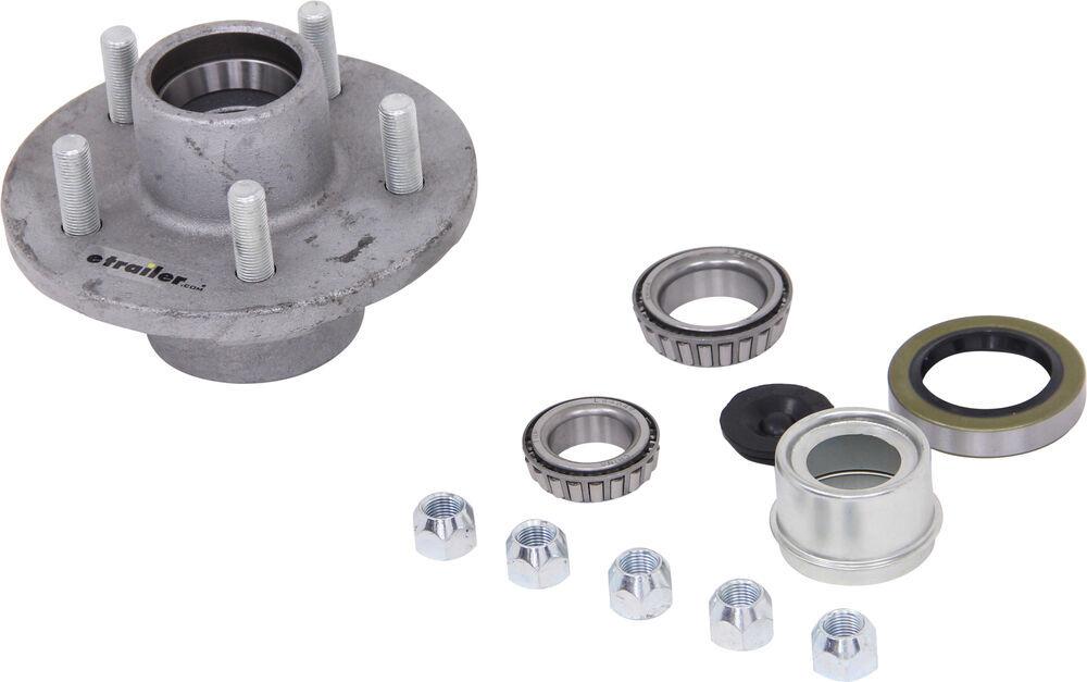 etrailer 13 Inch Wheel,14 Inch Wheel,14-1/2 Inch Wheel,15 Inch Wheel Trailer Hubs and Drums - AKIHUB-545-35-G-EZ-K