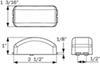 Optronics Rectangle Trailer Lights - AL191RB