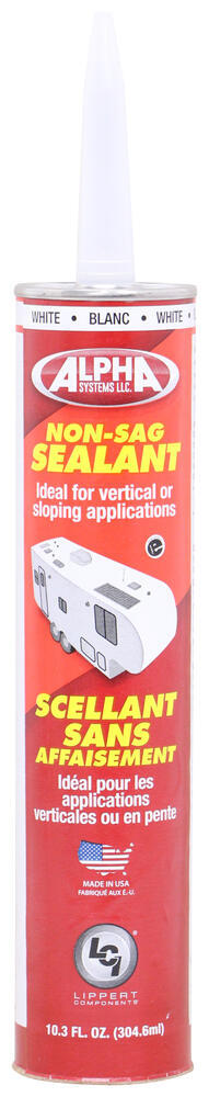 Alpha Systems 1010 Non-Sag Sealant for RVs - White - 10.3 oz - Qty 1 10.3 Oz AL28KV