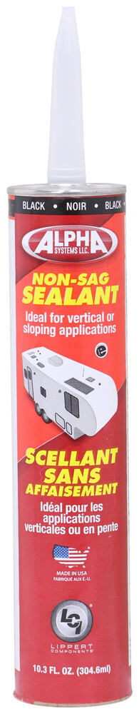 Alpha Systems 1010 Non-Sag Sealant for RVs - Black - 10.3 oz - Qty 1 Non-Sag AL53KV